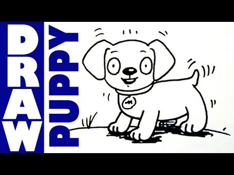How to draw cute little puppies - Shoo Rayner Drawing School