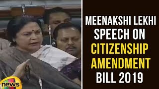 Meenakshi Lekhi Speech on the Citizenship (Amendment) Bill 2019 | Parliament Session | Mango News - MANGONEWS