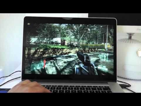 Retina MacBook Pro vs Alienware m14x Crysis 2 - Gaming