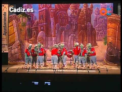 Sesión de Cuartos de final, la agrupación Lo siento pisha, no to er mundo puede ser de Cai actúa hoy en la modalidad de Comparsas.