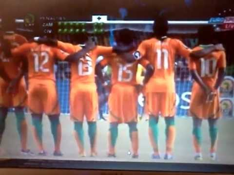 Zambia Vs Ivory Coast Africa Cup of Nations 2012- PENALTY SHOOT OUT