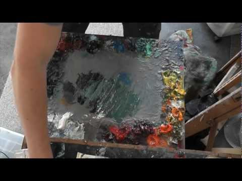 Basic Oil Painting Tutorial: The Oil painting palette
