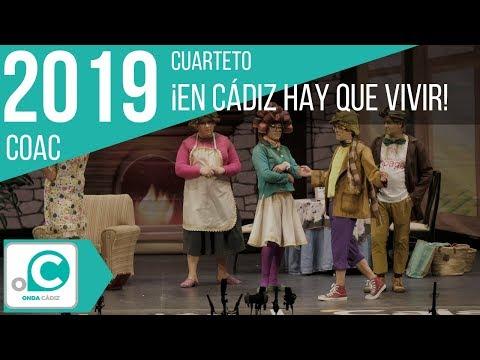 La agrupación ¡En cádiz hay que vivir! llega al COAC 2019 en la modalidad de Cuartetos. Primera actuación de la agrupación para esta modalidad.