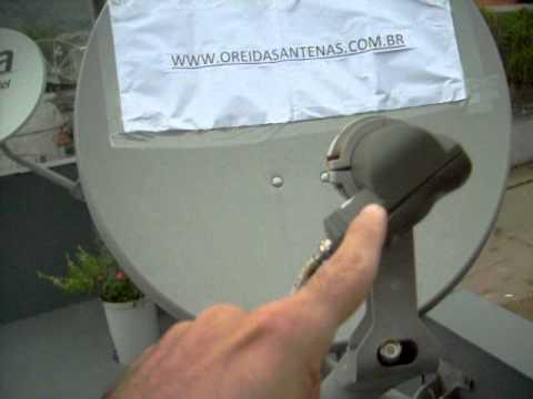 Apontamento para o satélite Amazonas 61w. O Rei das Antenas