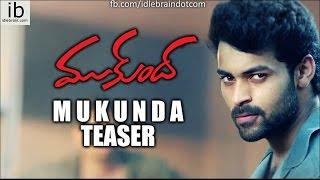 Varun Tej's Mukunda teaser - idlebrain.com - IDLEBRAINLIVE