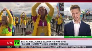 Sochi welcomes 20,000+ participants of 2017 World Festival of Youth & Students - RUSSIATODAY
