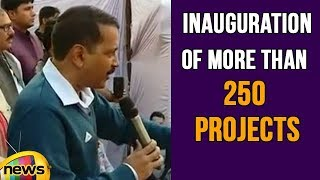 Delhi CM Arvind Kejriwal at Mundka, Inauguration of More Than 250 Projects in Unauthorized Colonies - MANGONEWS