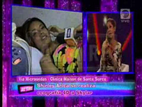 Shirley Arica se realizó ecografía 4D en Maison de Santé de Surco