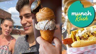 Munch Rush! Devour Power Takes on Jacob Riis Park | Food Network - FOODNETWORKTV