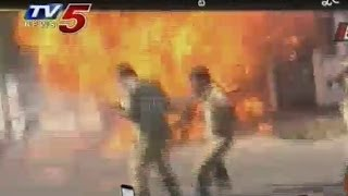 Gas Cylinder Explosion At Mahabubnagar - TV5NEWSCHANNEL