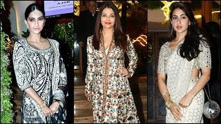 Aishwarya Rai Bachchan, Sonam Kapoor, Sara Ali Khan make heads turn at a wedding reception - TIMESOFINDIACHANNEL