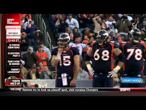 Tebow Soundtrack from Chicago Bears game 12-11-11