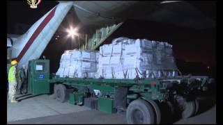 بالفيديو.. القوات المسلحة ترسل مساعدات إنسانية إلى تونس