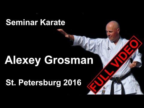 Seminar 8 Alexey Grosman Karate Shotakan St Petersburg 2016 (Гросман Алексей Маркович)