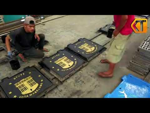 Proses Pembuatan Tutup Gorong-Gorong Cor Besi