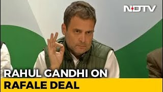 """Why Did Anil Ambani Get Offset Clause?"" Asks Rahul Gandhi On Rafale - NDTV"