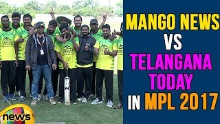 Mango News VS Telangana Today  in MPL 2017, RK Awarded Man Of the Match | Mango News - MANGONEWS