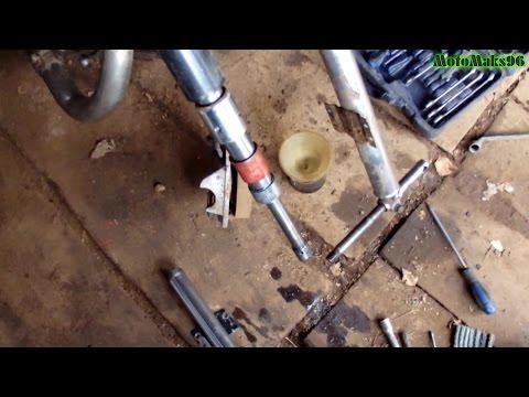 Как залывать масло в задние амартизаторы юпитер