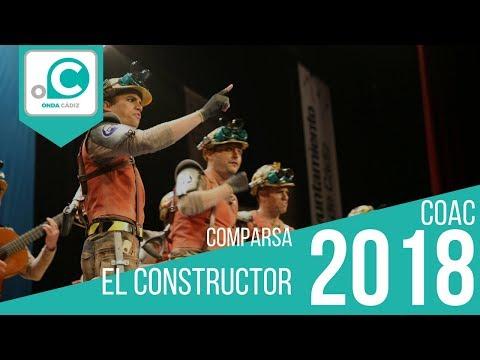 La agrupación El constructor llega al COAC 2018 en la modalidad de Comparsas. Primera actuación de la agrupación para esta modalidad.