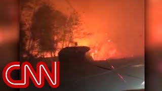 Dad sings to toddler while driving through wildfire - CNN