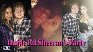 SRK, Malika, Mouni & others; Inside Ed Sheeran's Party - IANSINDIA