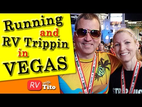 Running Down the Vegas Strip at Night and Taking Your RV to Vegas