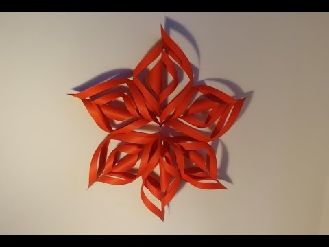 Ozdoby świąteczne - gwiazda 3D z papieru