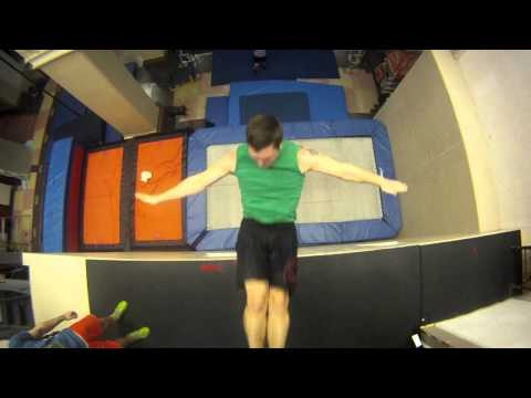 New Extreme Sport: Trampoline Wall.  Christophe Hamel Demo 2012.mov