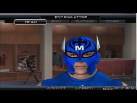 WWE SvR 2011 How To Make  Rey Mysterio Wrestlemania 27 (Special Capitain American)