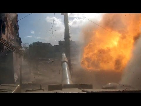 18+ Death of a Tank - Destroyed T-72 mission with GoPro - Darayya Syria ++♪