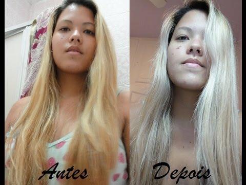Violeta Genciana (VG) + Água para desamarelar cabelos loiros