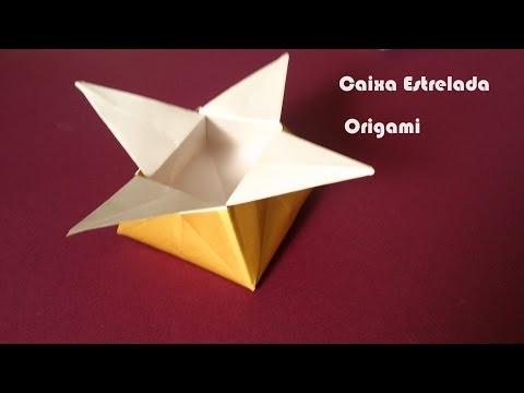 Como fazer uma Caixa de Presente de ORIGAMI Estrelada - Dobraduras