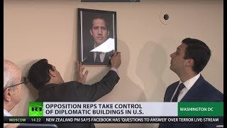 Illegal and forceful occupation of Venezuelan diplomatic offices by opposition reps in the US - RUSSIATODAY