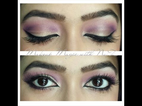 Pink/purple-gold eye makeup tutorial