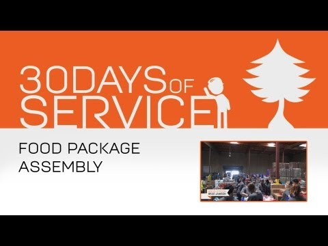 30 Days of Service by Brad Jamison: Day 19 - Food Package Assembly