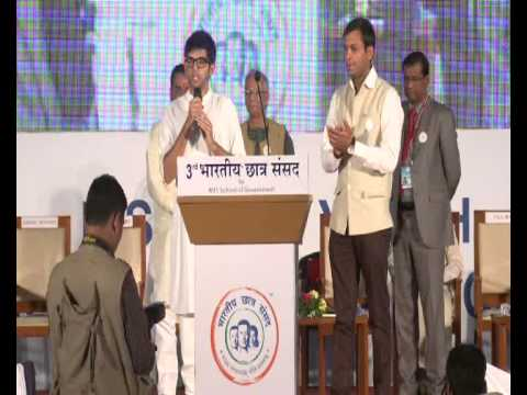 Yuva Sena President Aditya Thackeray at 3rd Bhartiya Chatra Sansad, Pune