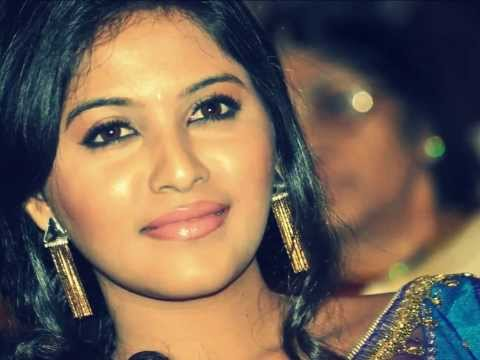 Anjali Hot in Blue Transparent Saree in an Event