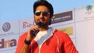 Abhishek Bachchan at a marathon event
