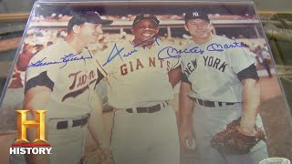 Pawn Stars: Signed Pic of MLB All Stars Mays, Mantle, & Killebrew (Season 5) | History - HISTORYCHANNEL