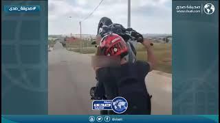 شاب يتعرض لنهاية مروعة على دراجة نارية
