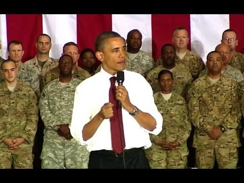 President Obama Speaks to Troops at Bagram Air Base