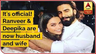 It's official! Ranveer Singh and Deepika Padukone are now husband and wife - ABPNEWSTV