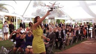بالفيديو: طائرة دون طيار لإيصال خاتم الزواج!