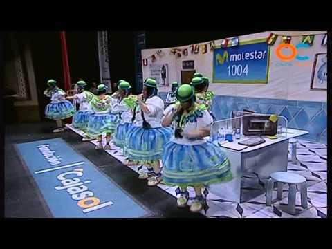 Sesión de Preliminares, la agrupación Las chicas de compañía actúa hoy en la modalidad de Chirigotas.