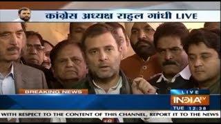 Rahul Gandhi Says, Won't Let Modi Sleep Peacefully Until,  He Waives Off Farmer's Loans - INDIATV
