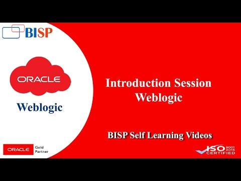 Weblogic Introduction Class