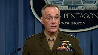 Gen. Dunford holds news conference on military operations, attack in Niger - ABCNEWS