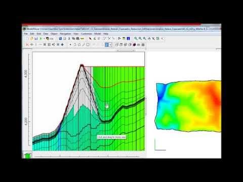 Simulación de reducción de infiltraciones de relaves con MODFLOW