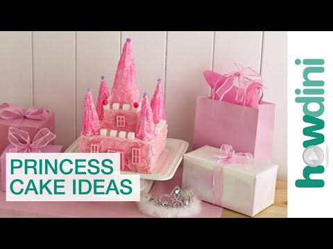 Princess castle cake - How to make a birthday castle cake
