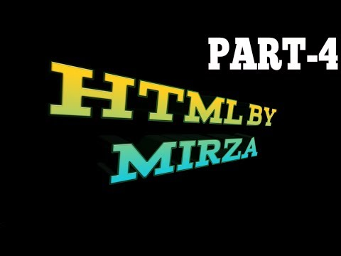 2018 : HTML part 4 - HTML free course for Beginners/Intermediate level. - يوتيوبات